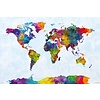 Watercolor Map Of The World - Maxi Poster