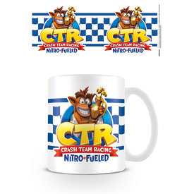 Crash Team Racing Chechered Flag Mug
