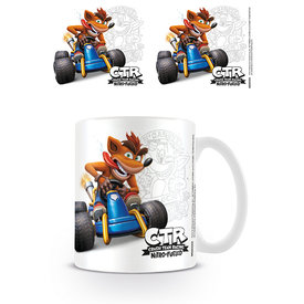Crash Team Racing Crash Emblem Mug