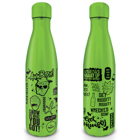 Rick & Morty Quotes Metal Drinkfles