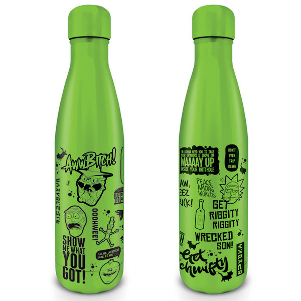 Rick & Morty Quotes Metal Drink Bottle