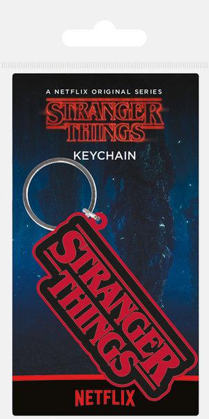 3 Keyrings And 4 Sticker Set STRANGER THINGS 10 Badges