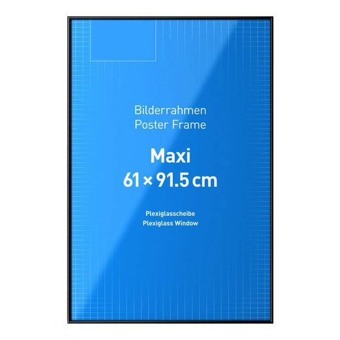 Frame 61x91,5 Black Plastic