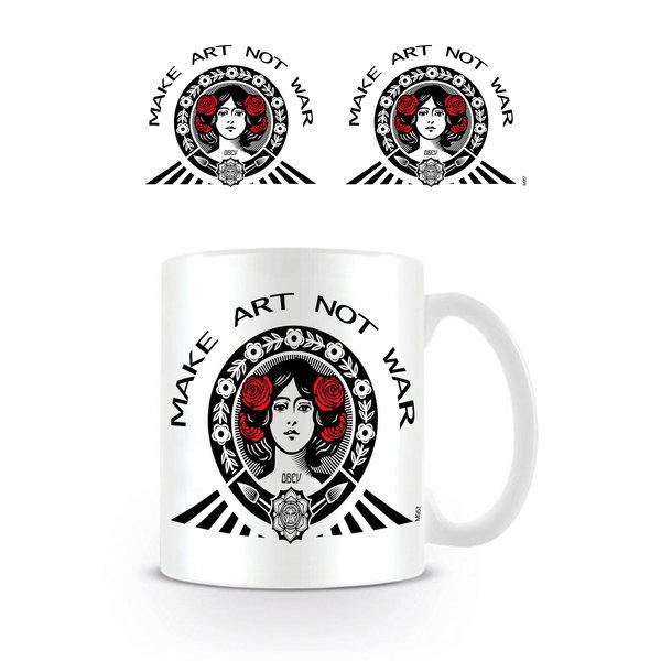 Make Art Not War Red Black White - Mug