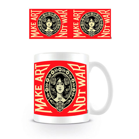 Make Art Not War Red Logo - Mug
