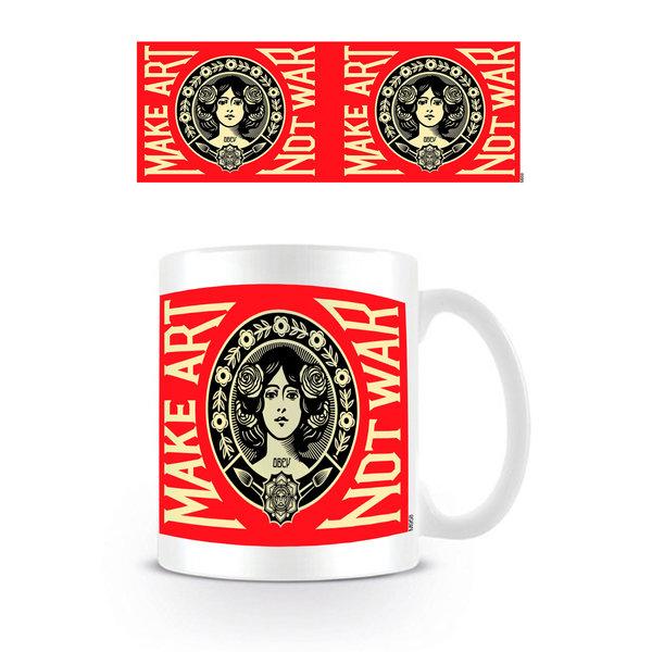 Make Art Not War Red Logo - Mok