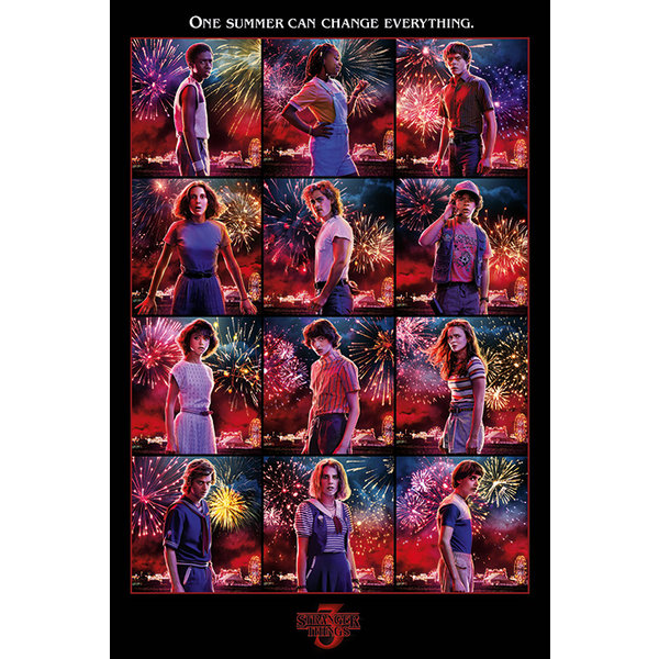 Stranger Things Character Montage Maxi Poster