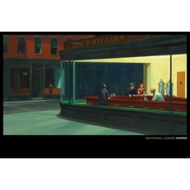 Edward Hopper Nighthawks Maxi Poster
