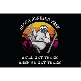 Sloth Running Team Maxi Poster