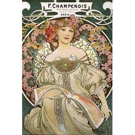 Alfons Mucha Jugendstil Maxi Poster