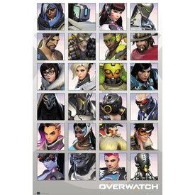 Overwatch Character Portraits Maxi Poster