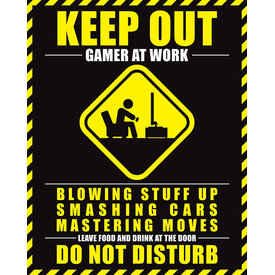 Gamer at Work Mini Poster