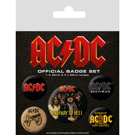 AC/DC Logo Badge Pack