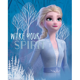 Frozen 2 Wake Your Spirit Elsa Mini Poster