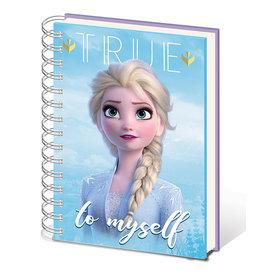 Frozen 2 Sisters Metallic Cover Cahier de note A5