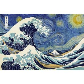 Starry Wave / Great Wave of Kanagawa Maxi Poster