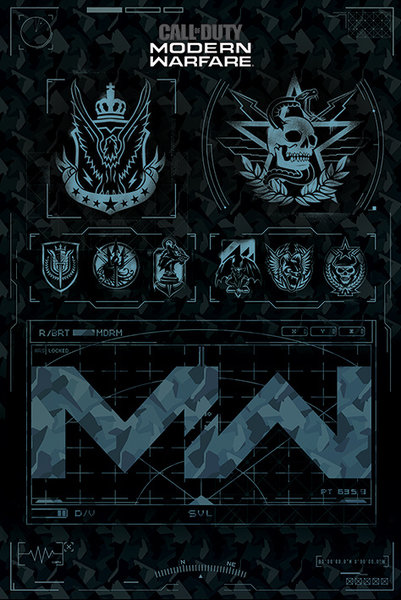 Call Of Duty Modern Warfare Fractions Maxi Poster Hole In The Wall Hole In The Wall