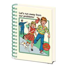 Steven Rhodes Let's Run Away From Our Problems A5 Notebook