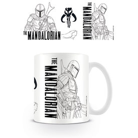 Star Wars The Mandalorian Line Art Mug