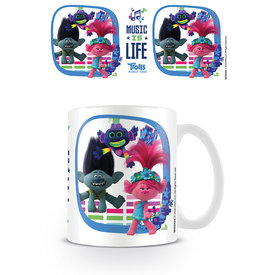 Trolls World Tour Music Is Life Mug
