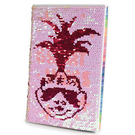 Trolls World Tour Great Vibes A5 Sequin Flip Notebook