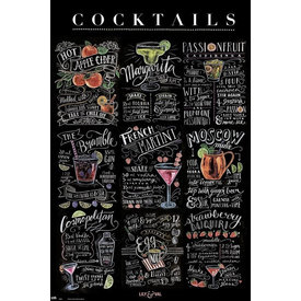 Lily & Val Cocktails Maxi Poster