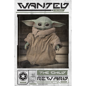 Star Wars The Mandalorian Wanted The Child Maxi Poster