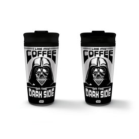 Star Wars I Like My Coffee On The Dark Side Metal Travel Mok