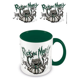 Rick And Morty Monster Trouble Coloured Mug