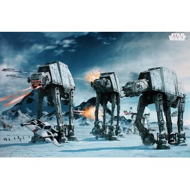 Star Wars At-At Fighter The Empire Strikes Back Maxi Poster