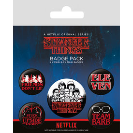 Stranger Things Characters Badge Pack