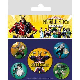 My Hero Academia Characters Badge Pack