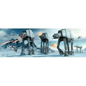 Star Wars At-At Fight Deurposter