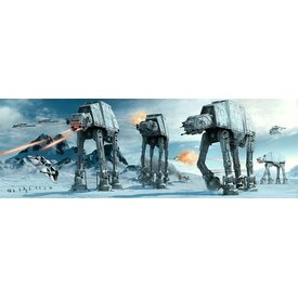 Star Wars At-At Fight Door poster