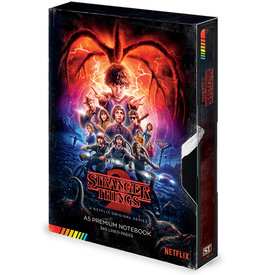 Stranger Things S2 VHS Premium A5 Notebook