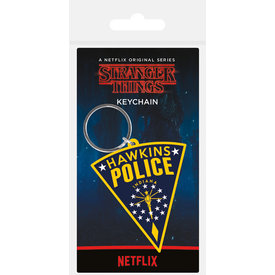 Stranger Things Hawkins Police Patch Keyring