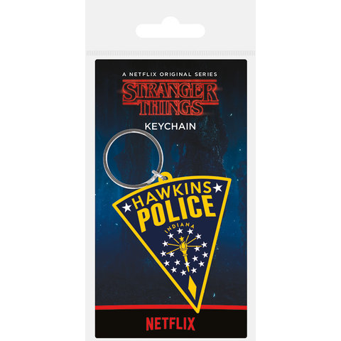 Stranger Things Hawkins Police Patch Porte-clé