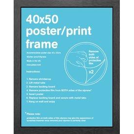 Frame 40x50cm Black MDF