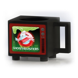 Ghostbusters Logo Retro TV Heat Change Mug