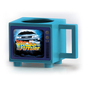 Back To The Fututre Logo Retro TV Heat Change Mok
