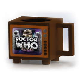 Doctor Who Hide Behind The Sofa Retro TV Heat Change Mug