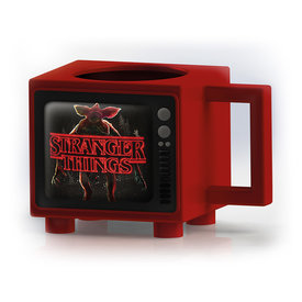 Stranger Things Titles Retro TV Heat Change Mug