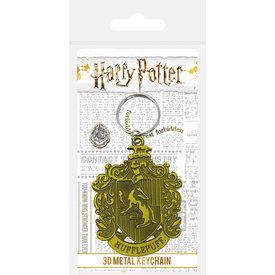 Harry Potter Hufflepuff Crest Metal Keyring
