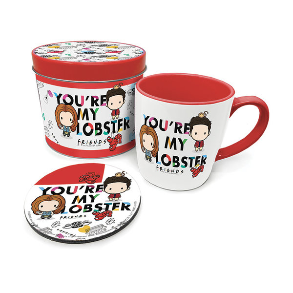 Friends Chibi Your're My Lobster Metal Tin Giftset