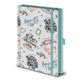 Friends Marl Soft Fabric  A5 Notebook