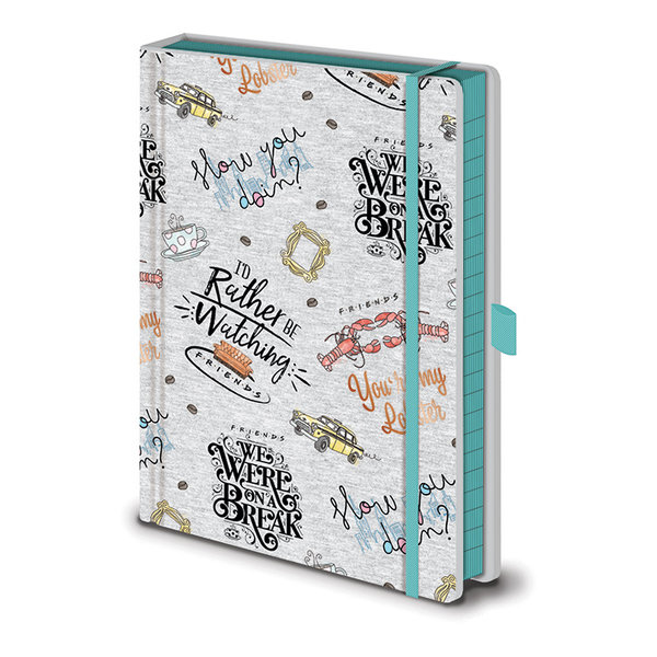 Friends Marl Soft Fabric A5 Premium Notitieboek