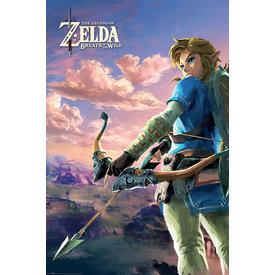 The Legend of Zelda Breath Of The Wild Hyrule Scene Landscape Maxi Poster