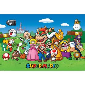 Super Mario Characters Maxi Poster