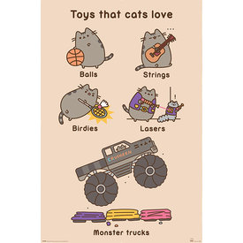 Pusheen Toys For Cats - Maxi Poster