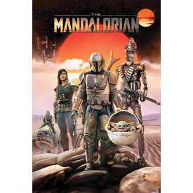 Star Wars The Mandalorian Group Maxi Poster